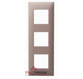 Plaque triple horizontale/verticale chocolat Arnould Espace Evolution 64433
