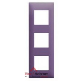 Plaque triple horizontale/verticale pourpre Arnould Espace Evolution 64443