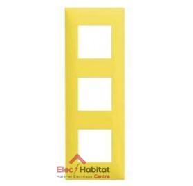 Plaque triple horizontale/verticale jaune Arnould Espace Evolution 64473