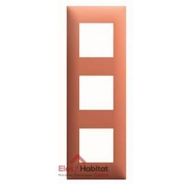 Plaque triple horizontale/verticale Terracotta Arnould Espace Evolution 64463