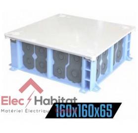 Boite pavillonnaire de comble étanche AIR'METIC 160x160x65mm Eur'ohm 51022