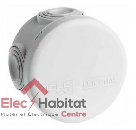 Boîte de dérivation ronde IP55 diamètre 60mm Eur'ohm 50001