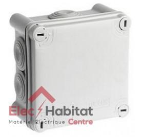 Boîte de dérivation carrée IP55 100x100mm Eur'ohm 50004