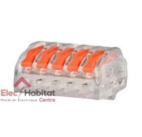 Lot de 5 bornes automatique 5 entrées souple/rigide Capri 308105