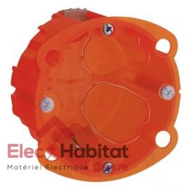 Boite d'encastrement multimatériaux 1 poste prof.40mm Legrand 080101
