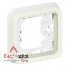 Support plaque 1 poste blanc Plexo Legrand 069692